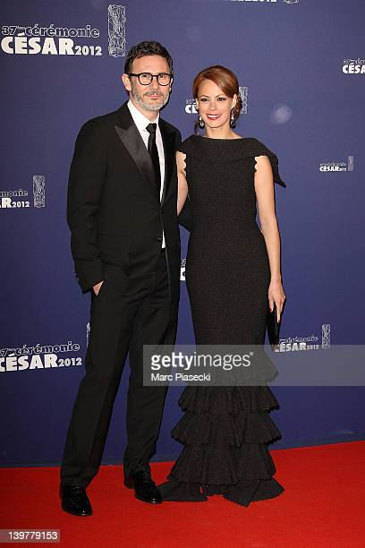 Director Michel Hazanavicius and wife Berenice Bejo attend the 37th Cesar Film Awards at Theatre du Chatelet on February 24 2012 in Paris France