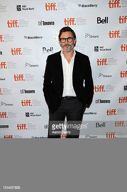 Director Michel Hazanavicius arrives at The Artist Premiere at The Elgin during the 2011 Toronto International Film Festival on September 9 2011 in...