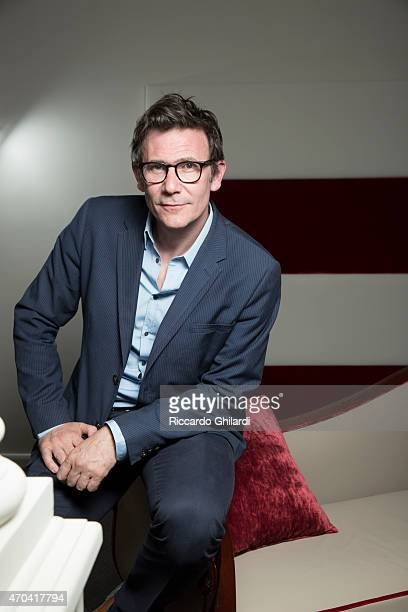Director Michel Hazanavicius is photographed for Self Assignment on April 8 2015 in Rome Italy