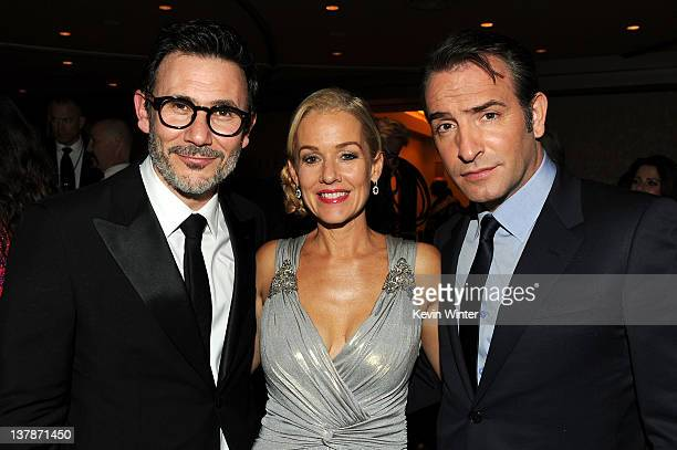 Director Michel Hazanavicius winner of the Outstanding Directorial Achievement in Feature Film award for 'The Artist' with actors Penelope Ann Miller...