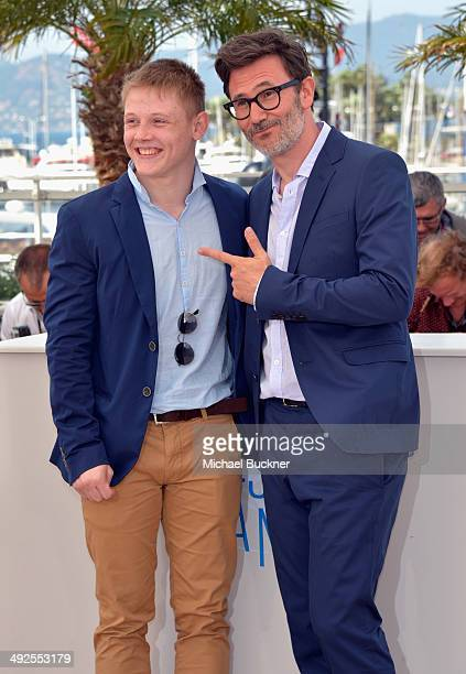 Director Michel Hazanaviciusi and actor Maxim Emelianov attend 'The Search' photocall at the 67th Annual Cannes Film Festival on May 21 2014 in...