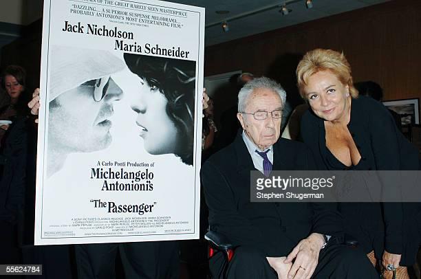 Director Michelangelo Antonioni and his wife/collaborator Enrica Fico Antonioni attend the AMPAS Tribute to Michelangelo Antonioni and Screening of...