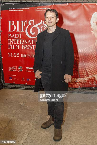 Director Michele Alhaique attends 'Senza Nessuna Piet' photocall during Bifest 2015 on March 25 2015 in Bari Italy