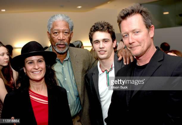 Director Michele Ohayon, Morgan Freeman, James Franco and Robert Patrick
