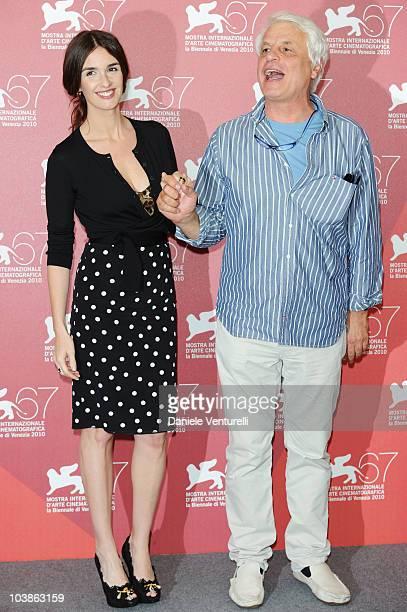 Director Michele Placido and actress Paz Vega attend the Vallanzasca Gli Angeli del Male photocall at the Palazzo del Casino during the 67th Venice...