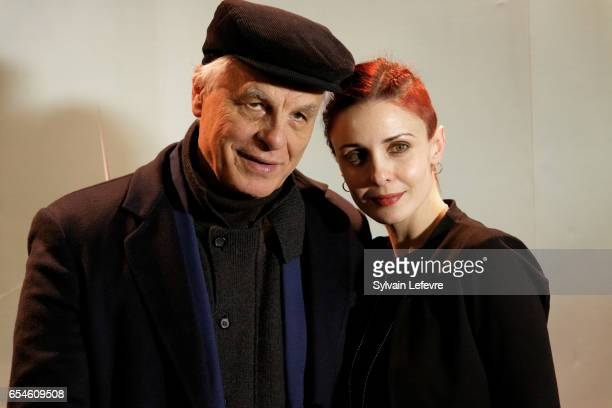 Director Michele Placido and his wife Federica Vincenti attend day five photocall of Valenciennes Cinema Festival on March 17, 2017 in Valenciennes,...