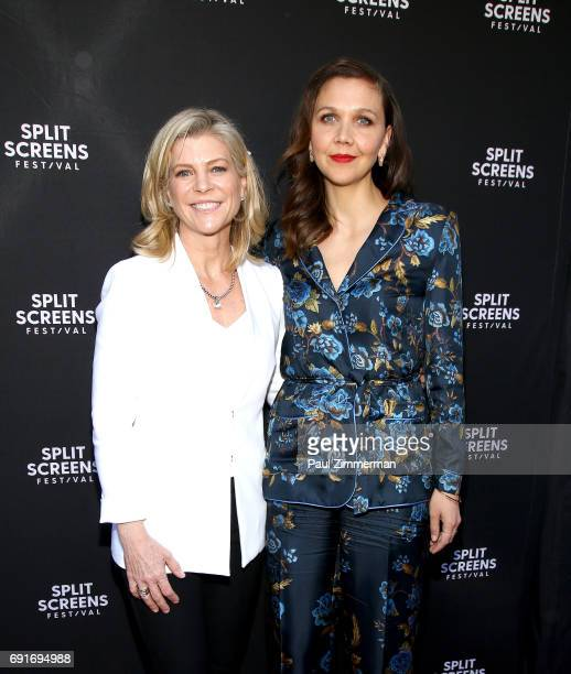 Director Michelle MacLaren and producer and actress Maggie Gyllenhaal attend the 2017 IFC Split Screens Festival 'The Deuce' Premiere at IFC Center...