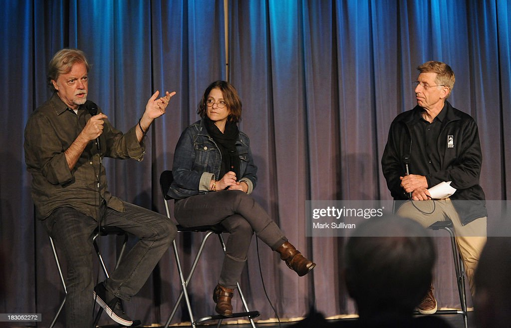Director Mick Gochanaur, producer Robin Klein and GRAMMY Museum executive director Bob Santelli onstage during Reel to Reel: Rolling Stones 1965 Charlie Is My Darling at The GRAMMY Museum on October 3, 2013 in Los Angeles, California.
