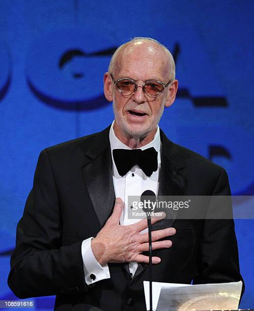 Director Mick Jackson accepts the Movies for Television and MiniSeries DGA award for Temple Grandin onstage at the 63rd Annual Directors Guild Of...