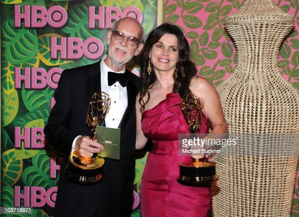 Director Mick Jackson and actress Julia Ormond arrive at HBO's Annual Emmy Awards Post Award Reception at The Plaza at the Pacific Design Center on...