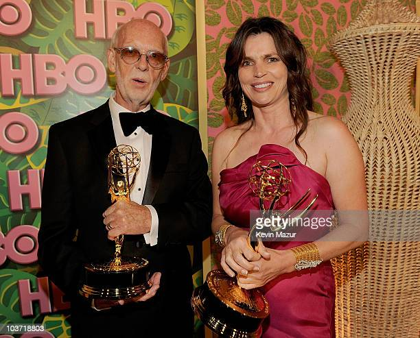 Director Mick Jackson and actress Julia Ormond attend HBO after party for the 62nd Primetime Emmy Awards at Pacific Design Center on August 29 2010...