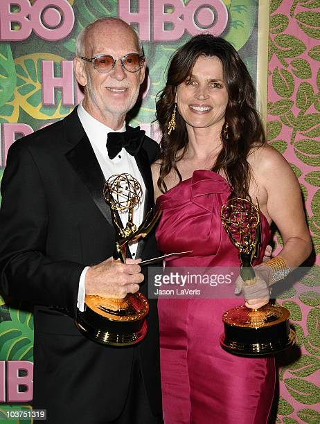 Director Mick Jackson and actress Julia Ormond attend HBO's post Emmy Awards party at Pacific Design Center on August 29 2010 in West Hollywood...
