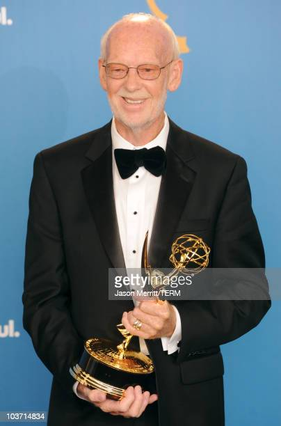 Director Mick Jackson winner of the Outstanding Made for Television Movie Award for Temple Grandin poses in the press room at the 62nd Annual...