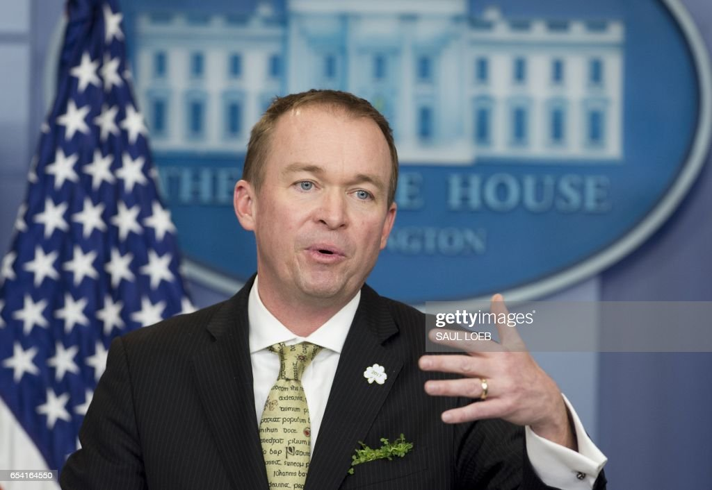 Director Mick Mulvaney of the Office of Management and Budget (OMB) speaks about US President Donald Trump's budget during the daily press briefing in the Brady Press Briefing Room at the White House in Washington, DC, March 16, 2017 /