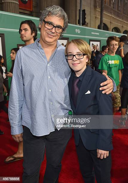 Director Miguel Arteta and actor Ed Oxenbould attends The World Premiere of Disney's Alexander and the Terrible Horrible No Good Very Bad Day at the...