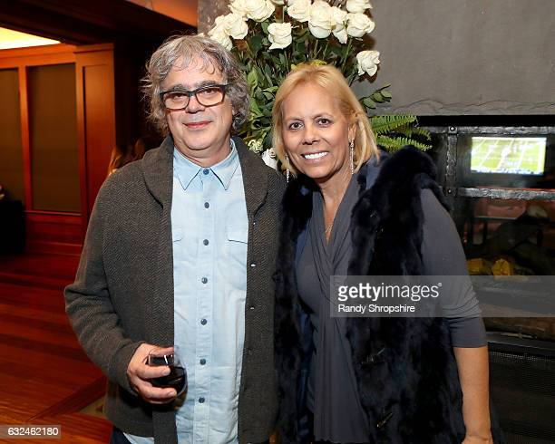 Director Miguel Arteta and Amy Baker attend Google Home x Sundance x Wanderluxxe celebrate diversity at the home of Barry Amy Baker on January 22...