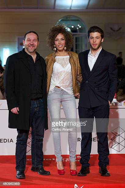 Director Miguel Ferrari Actress Arlette Torres and actor Ignacio Montes attends the 'Todos Estan Muertos' premiere during the 17th Malaga Film...