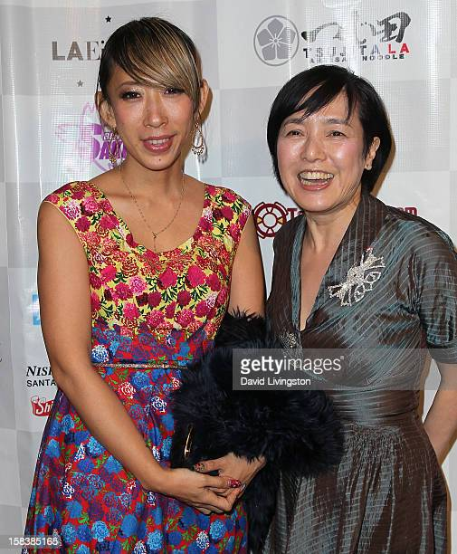 Director Mika Ninagawa and actress Kaori Momoi attend the LA EigaFest Opening Night Gala at the Egyptian Theatre on December 14 2012 in Hollywood...