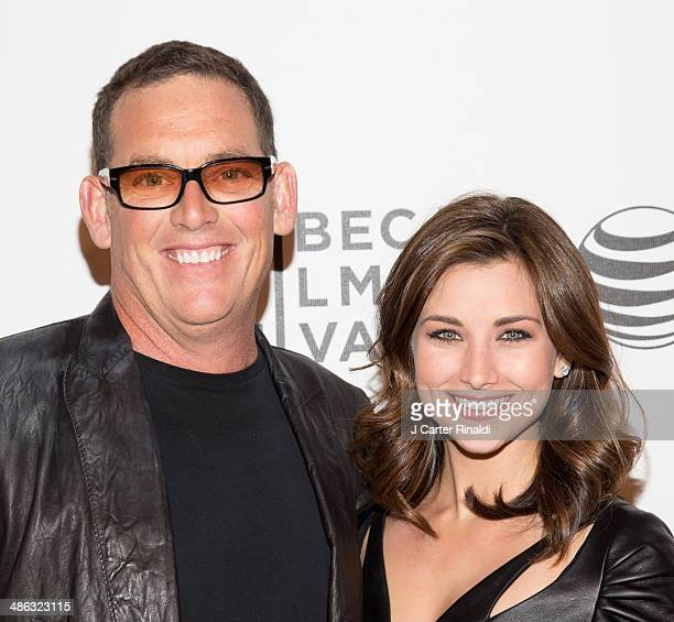 Director Mike Fleiss and Miss America 2012 Laura Kaeppeler attend the screening of The Other One The Long Strange Trip of Bob Weir during the 2014...