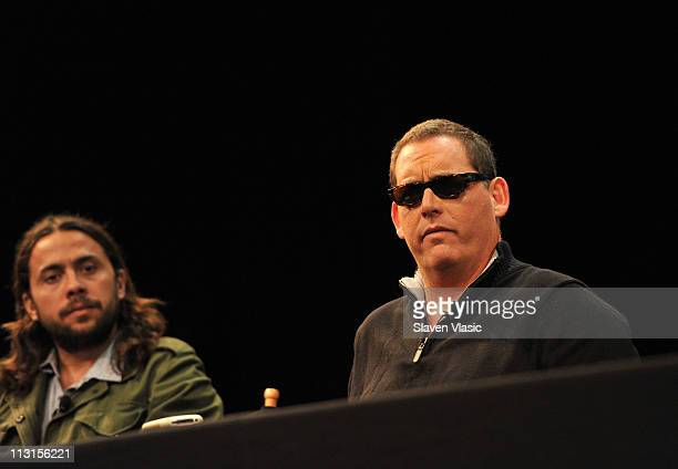 Director Mike Fleiss speaks at the God Bless Ozzy Osbourne Press Conference during the 2011 Tribeca Film Festival at the SVA Theater on April 25 2011...