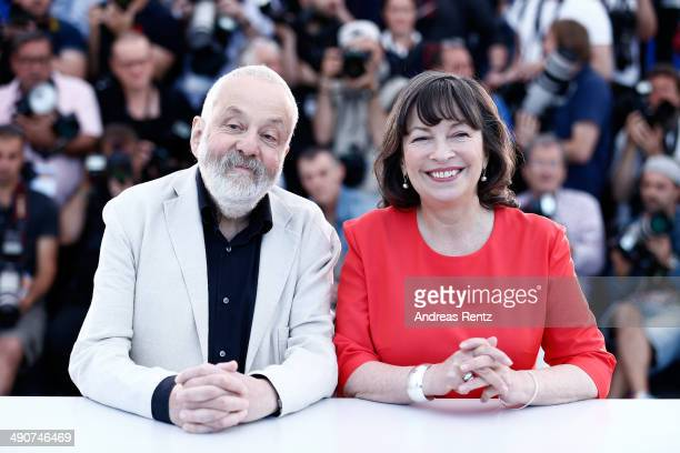 Director Mike Leigh and actress Marion Bailey attend the 'Mr Turner' photocall during the 67th Annual Cannes Film Festival on May 15 2014 in Cannes...