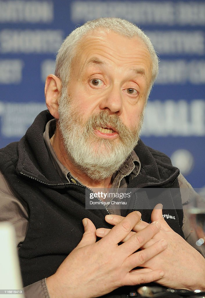 Director Mike Leigh attends the 'Happy-Go-Lucky' press conference as part of the 58th Berlinale Film Festival at the Grand Hyatt Hotel on February 12, 2008 in Berlin, Germany.