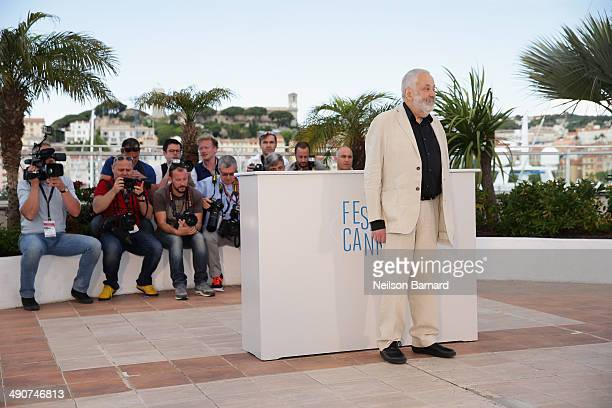 Director Mike Leigh attends the 'Mr Turner' photocall during the 67th Annual Cannes Film Festival on May 15 2014 in Cannes France