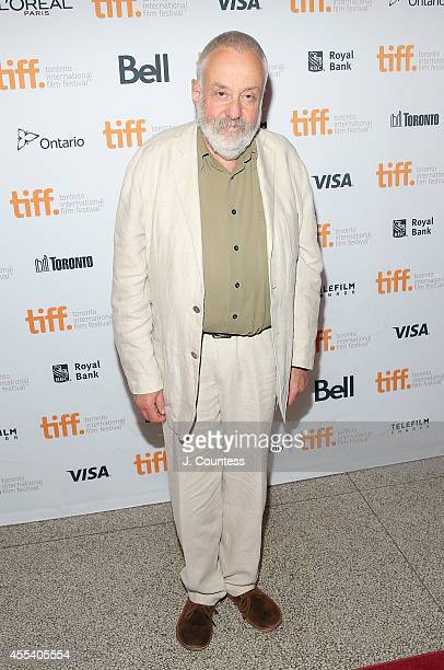 Director Mike Leigh attends the 'Mr Turner' Premiere during 2014 Toronto International Film Festival at The Elgin on September 8 2014 in Toronto...