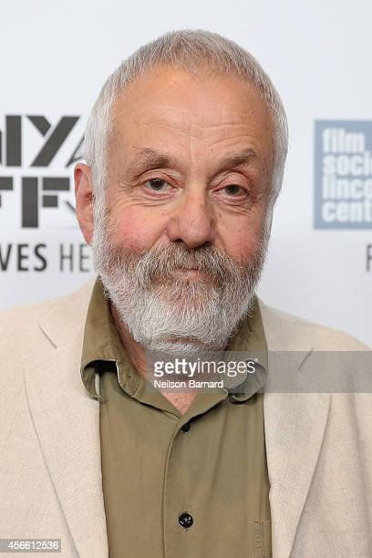 Director Mike Leigh attends the 'Mr Turner' premiere during the 52nd New York Film Festival at Alice Tully Hall on October 3 2014 in New York City