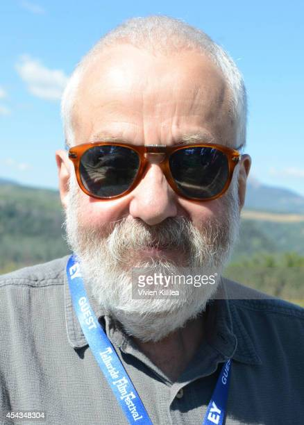Director Mike Leigh attends the Patron's Brunch at the 2014 Telluride Film Festival Day 1 on August 29 2014 in Telluride Colorado