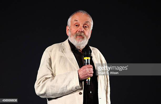 Director Mike Leigh attends the red carpet of 'Mr Turner' during the 58th BFI London Film Festival at Odeon West End on October 10 2014 in London...