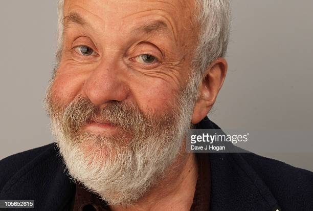 Director Mike Leigh from Another Year poses for a portrait during The 54th BFI London Film Festival held at The Vue Leicester Square on October 18...