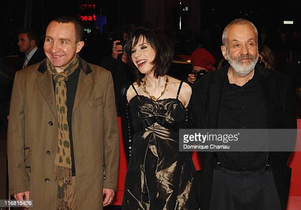Director Mike Leigh Sally Hawkins and Eddie Marsan attend the 'HappyGoLucky' Premiere as part of the 58th Berlinale Film Festival at the Berlinale...