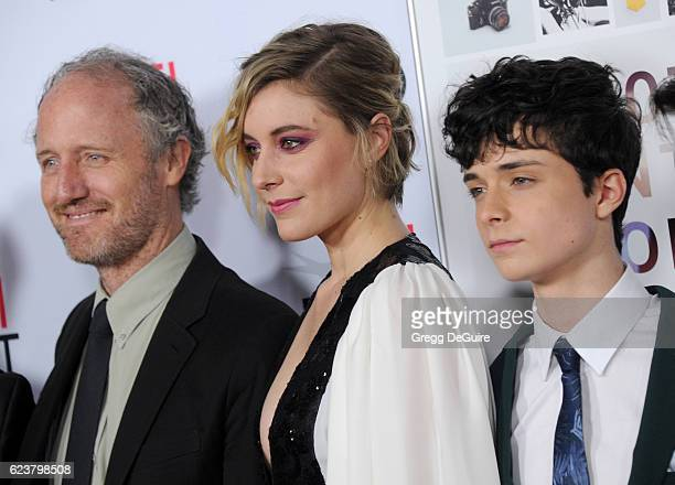 Director Mike Mills actors Greta Gerwig and Lucas Jade Zumann arrive at the AFI FEST 2016 Presented By Audi A Tribute To Annette Bening And Gala...