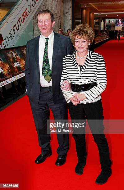 Director Mike Newell and wife Bernice Stegers attend the World film premiere of 'Prince Of Persia', at Vue Westfield on May 9, 2010 in London,...