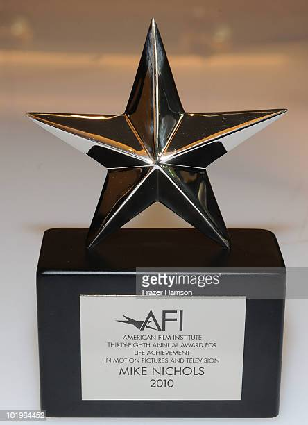 Director Mike Nichols Life Achievement Award is displayed at the 38th AFI Life Achievement Award honoring Mike Nichols held at Sony Pictures Studios...