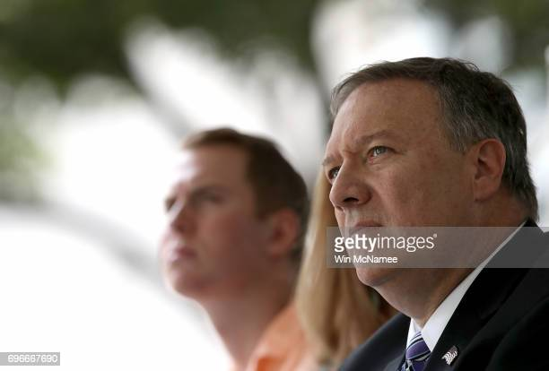 Director Mike Pompeo attends an event marking the 75th anniversary of the founding of the Office of Strategic Services June 16 2017 in Washington DC...