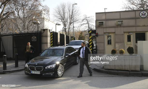 Director Mike Pompeo leaves Embassy of the United States for official talks in the Turkish capital during his first overseas visit since taking...