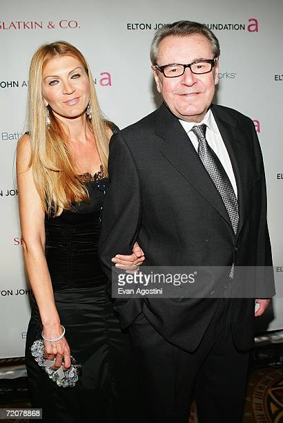 Director Milos Forman and his wife Martina Zborilova attend the Elton John AIDS Foundation's Fifth Annual Benefit An Enduring Vision at the Waldorf...