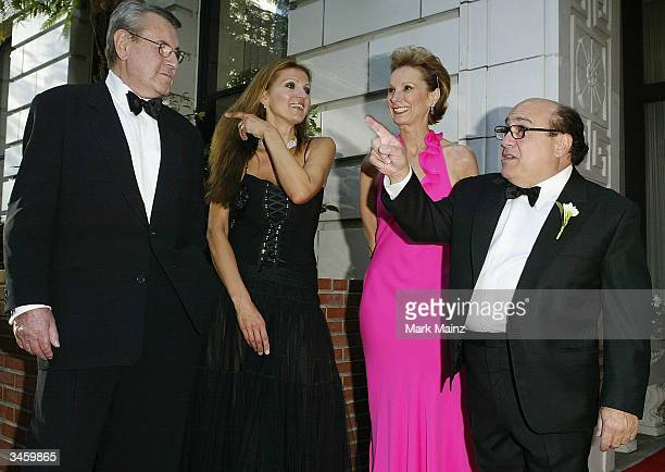 Director Milos Forman and his wife Martina Zborilova with Executive Director of the San Francisco Film Festival Roxanne MessinaCabtor and actor Danny...