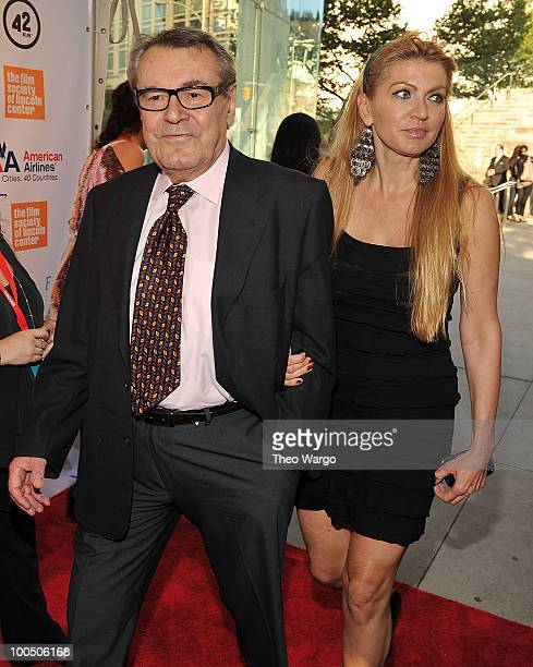 Director Milos Forman and Martina Zborilova attend the The Film Society of Lincoln Center's 37th Annual Chaplin Award gala at Alice Tully Hall on May...