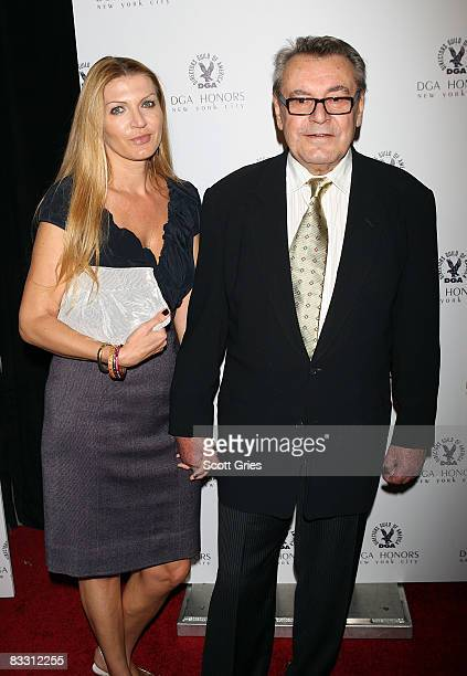 Director Milos Forman and wife Martina Formanova arrive at the 7th Directors Guild of America Honors at the DGA Theater on October 16 2008 in New...