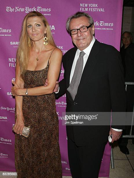 Director Milos Forman and wife Martina Zborilova arrive at The Darjeeling Limited Premiere at Avery Fisher Hall on September 28 2007 in New York City