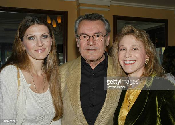 Director Milos Forman his wife Martina and Dr Judy Kuriansky attend the 19th Annual Israel Film Festival June 19 2003 in New York City