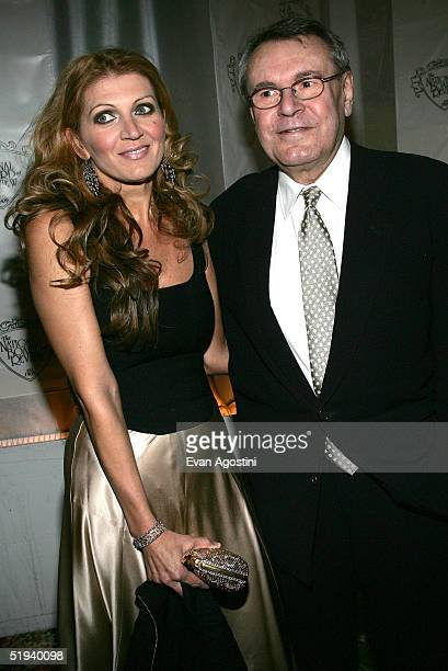 Director Milos Forman winner of the Billy Wilder Award and his wife Martina Zborilova attend the National Board of Review Annual Gala 2005 at Tavern...