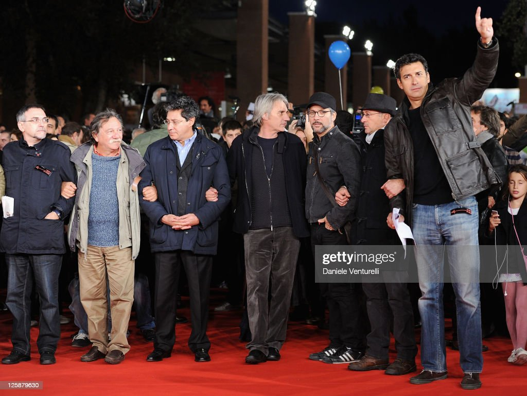 Protesters On The Red Carpet During The Opening Of The 5th International Rome Film Festival