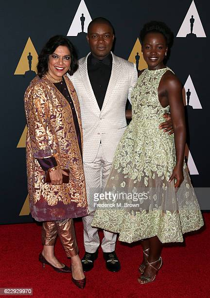 Director Mira Nair and actors David Oyelowo and Lupita Nyong'o attend the Academy of Motion Picture Arts and Sciences' 8th annual Governors Awards at...