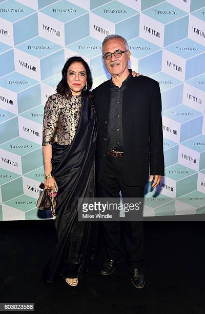Director Mira Nair and Mahmood Mamdani attend the Vanity Fair and Tiffany Co private dinner toasting Lupita Nyong'o and celebrating Legendary Style...