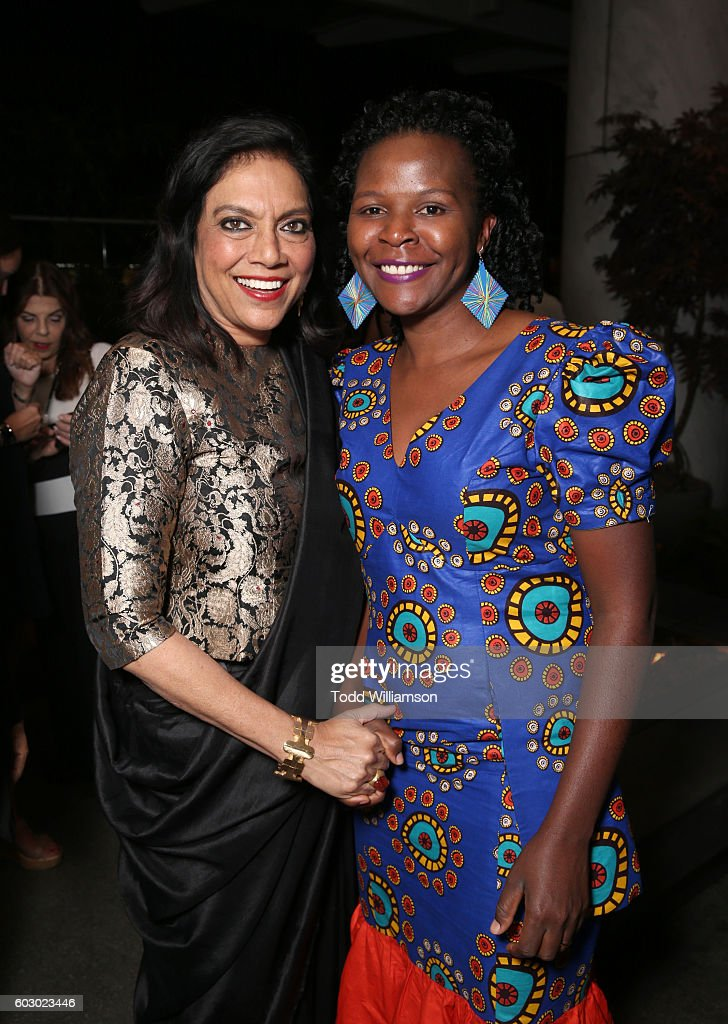 Director Mira Nair (L) and Sarah Katende attend the Vanity Fair and Tiffany & Co. private dinner toasting Lupita Nyong'o and celebrating Legendary Style at Shangri-La Hotel on September 11, 2016 in Toronto, Canada.