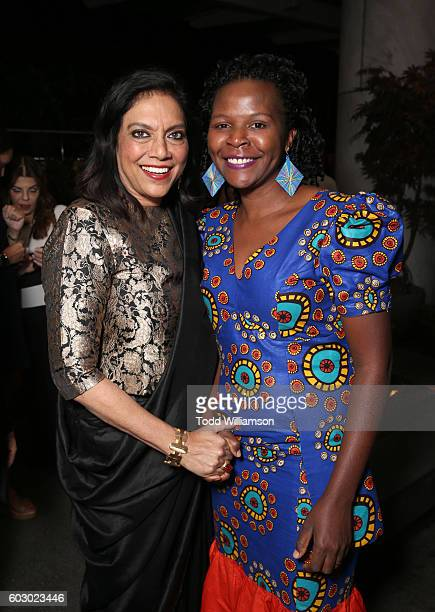 Director Mira Nair and Sarah Katende attend the Vanity Fair and Tiffany Co private dinner toasting Lupita Nyong'o and celebrating Legendary Style at...